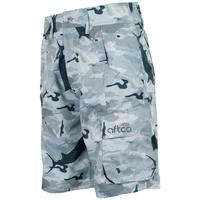 Aftco Tactical Fishing Shorts Grey Camo