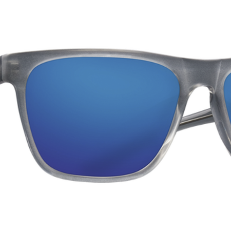 Costa del Mar Apalach Matte Gray Crystal Frame, Blue Mirror Glass Lense