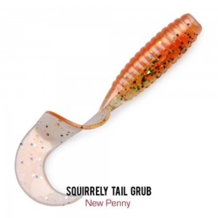 Fathom Offshore 4 in Squirrely Tail Grub- New Penny