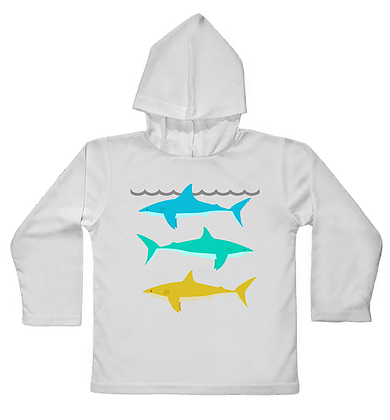 Jessie Jessup Hooded Toddler UPF Shirt Reef Shark