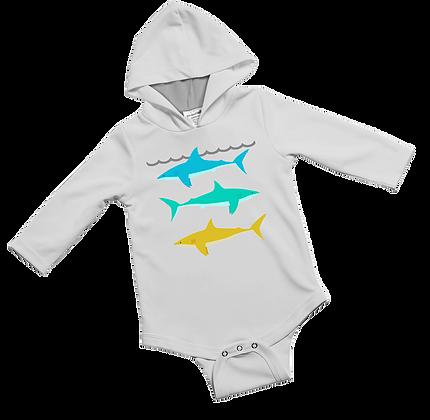 Jessie Jessup UPF Baby Onesie Reef Shark