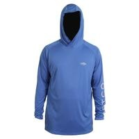 Aftco Samurai Hooded LS Performance Shirt Royal Blue