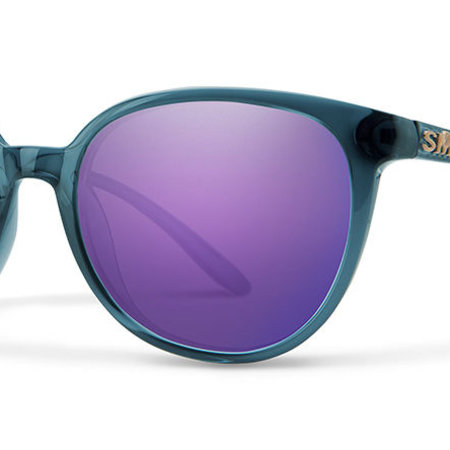 Smith Optics Cheetah Sunglasses Crystal Mediterranean Frame/Violet Mirror