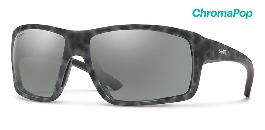 Smith Optics Hookshot Sunglasses Matte Ash Tort Frame/CP Platinum Mirror
