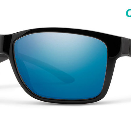 Smith Optics Drake Sunglasses Black Frame/CP Blue Mirror Glass