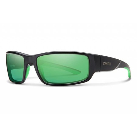 Smith Optics Survey Sunglasses Matte Black Frame/Polarized Green Mirror