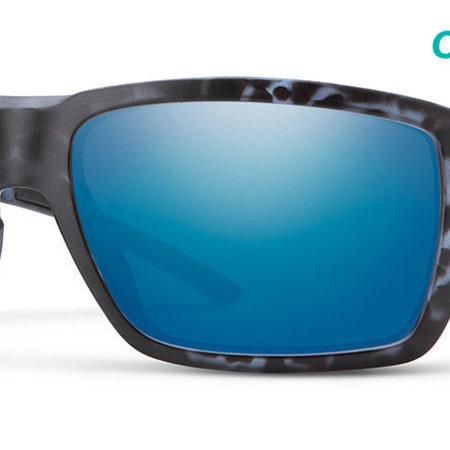 Smith Optics Highwater Sunglasses Matte Black Ice Tort Frame/CP+ Blue Mirror