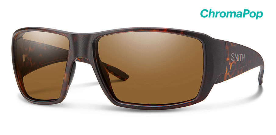Smith Optics Guides Choice Sunglasses Matte Dark Amber Tort Frame/CP Brown