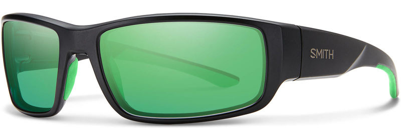 Smith Optics Survey Sunglasses Matte Black Frame/Carbonic Green Mirror