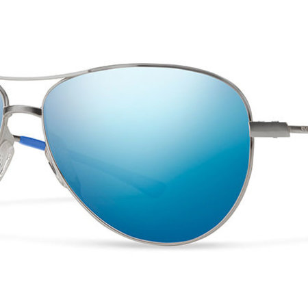 Smith Optics Langley Sunglasses Matte Ruthenium Frame/Pol Blue Mirror