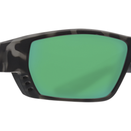 Costa del Mar Tuna Alley Ocearch Sunglasses Matte Tiger Shark Frame/Green Mirror Glass