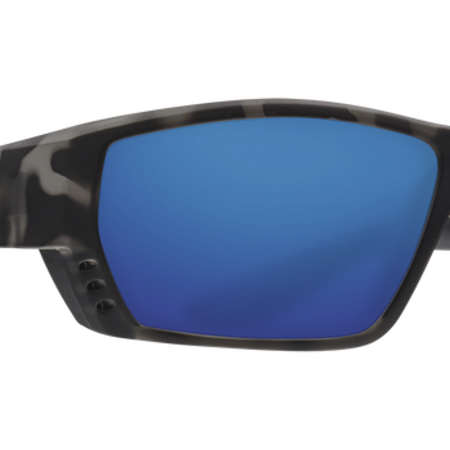 Costa del Mar Tuna Alley Ocearch Sunglasses Matte Tiger Shark Frame/Blue Mirror Glass