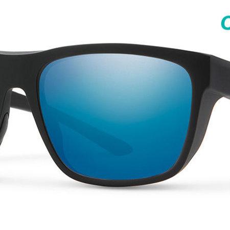 Smith Optics Barra Sunglasses Matte Black Frame/CP Blue Mirror