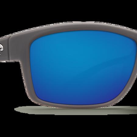 Costa del Mar Mag BaySunglasses  Blue Mirror 580P Matte Gray Frame