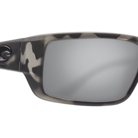 Costa del Mar Ocearch Fantail Sunglasses Matte TIger Shark Frame/Silver Mirror Gray (580) Glass