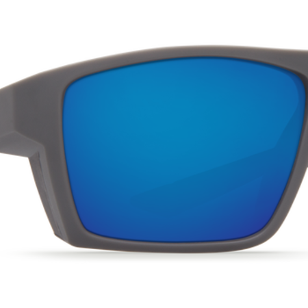 Bloke Sunglasses Blue Mirror 580P Matte Black + Matte Gray Frame