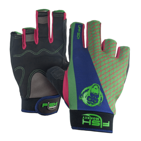 Fish Monkey Gloves FM15 The Crusher Neon Lit Up