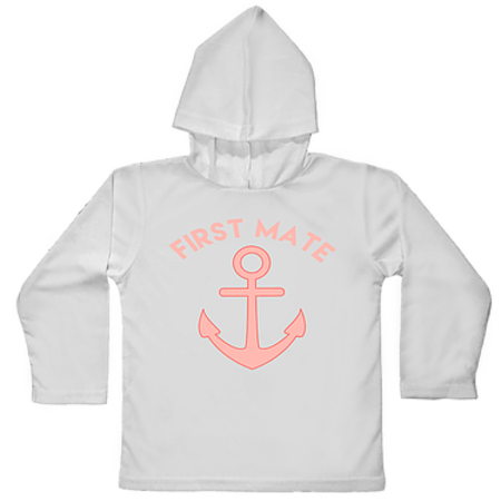 Jessie Jessup Hooded Toddler First Mate Pink Rashguard