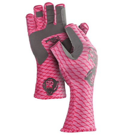 Fish Monkey Gloves Half Finger Guide Glove Lite Pink