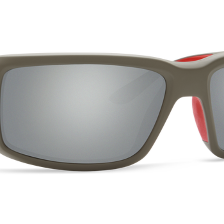 Costa del Mar Fantail Sunglasses Race Gray Frame/Gray Silver Mirror Glass