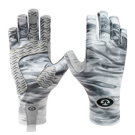 Flying Fisherman Sunbandit Pro Series Gloves Gray Water