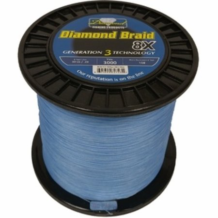 Diamond New Generation 3 - 8x Solid Core Braid 3000 yds 80 lb Blue