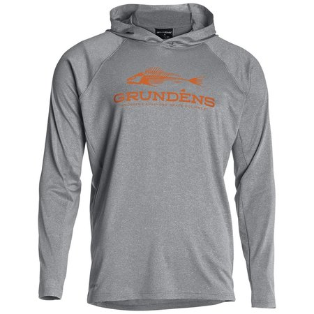 Grundens Hooded Deck Hand LS Shirt Gray
