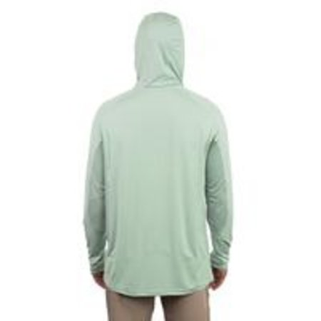 Aftco Barracuda GeoCool Hooded LS Shirt Moonstone Heather