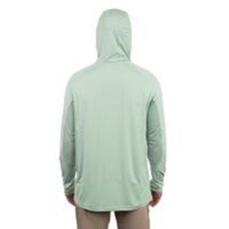 Aftco Barracuda GeoCool Hooded LS Shirt Moonstone Heather