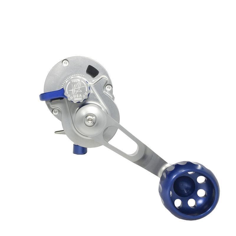 Seigler R203R LGN (Large Game Narrow) Smoke/Blue RH Lever Drag