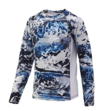 Huk Youth Pursuit LS Shirt Hydro Glacier (098)