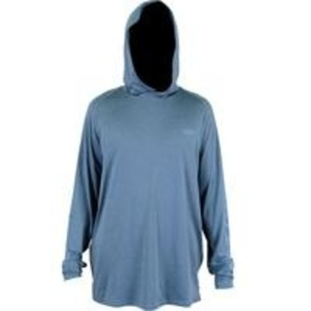 Aftco Samurai Hooded LS Shirt Space Blue Heather