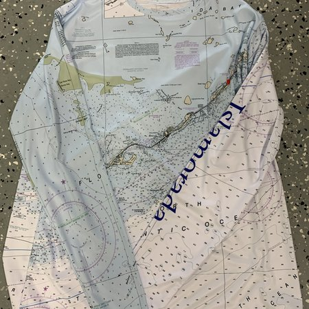 A1A Outfitters Corp. Shirt Chart/Map