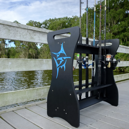 Sea Racks Rod Rack Black w/Blue Marlin