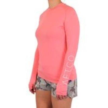 Aftco Women's  Samurai LS Shirt Coral