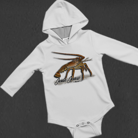 Jessie Jessup Baby Oneise Hooded UPF Lobster Crave