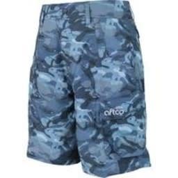 Aftco Aftco Tactical Fishing Shorts Blue Camo