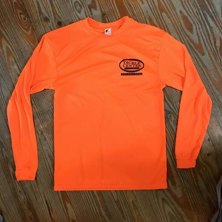 Tackle Center Tackle Center Orange Performance Shirt with Logo