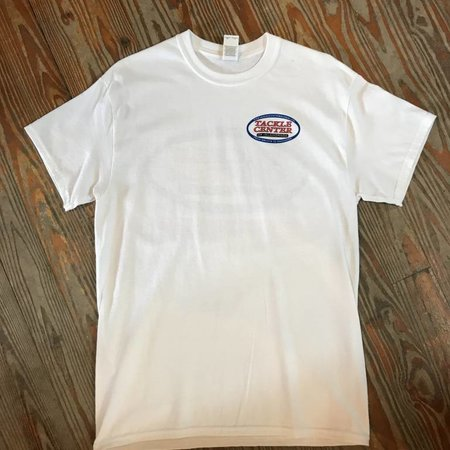 Tackle Center Short Sleeve Cotton T-Shirt White