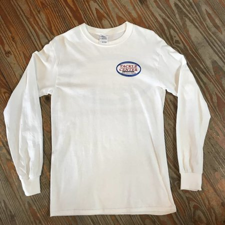 Tackle Center Tackle Center Long Sleeve Cotton T-Shirt White