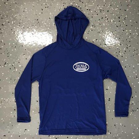 Tackle Center Hooded SPF Shirt Blue