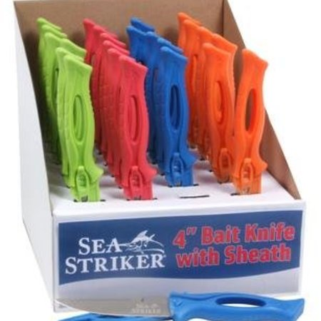 "Sea Striker 4"" Bait Knife W/ Sheath Assorted Colors"
