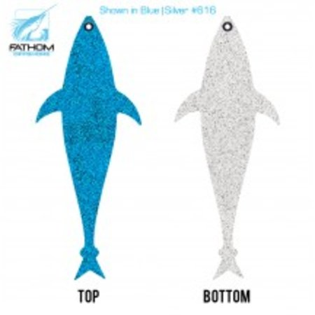 "Fathom Offshore Flap Jack Tuna 10"" Blue/White"