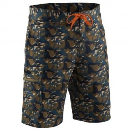 Grundens Fish Head Shorts Butternut Camo
