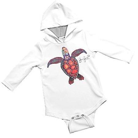 Jessie Jessup Baby Onesie UPF Turtle