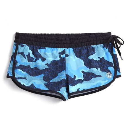 Scales Women's Shorts Camo Blue