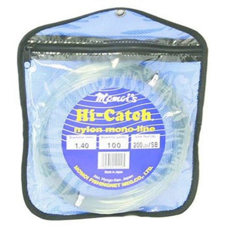 Momoi Hi-Catch Leader Coil 200 Lb 100 Yds Smoke Blue