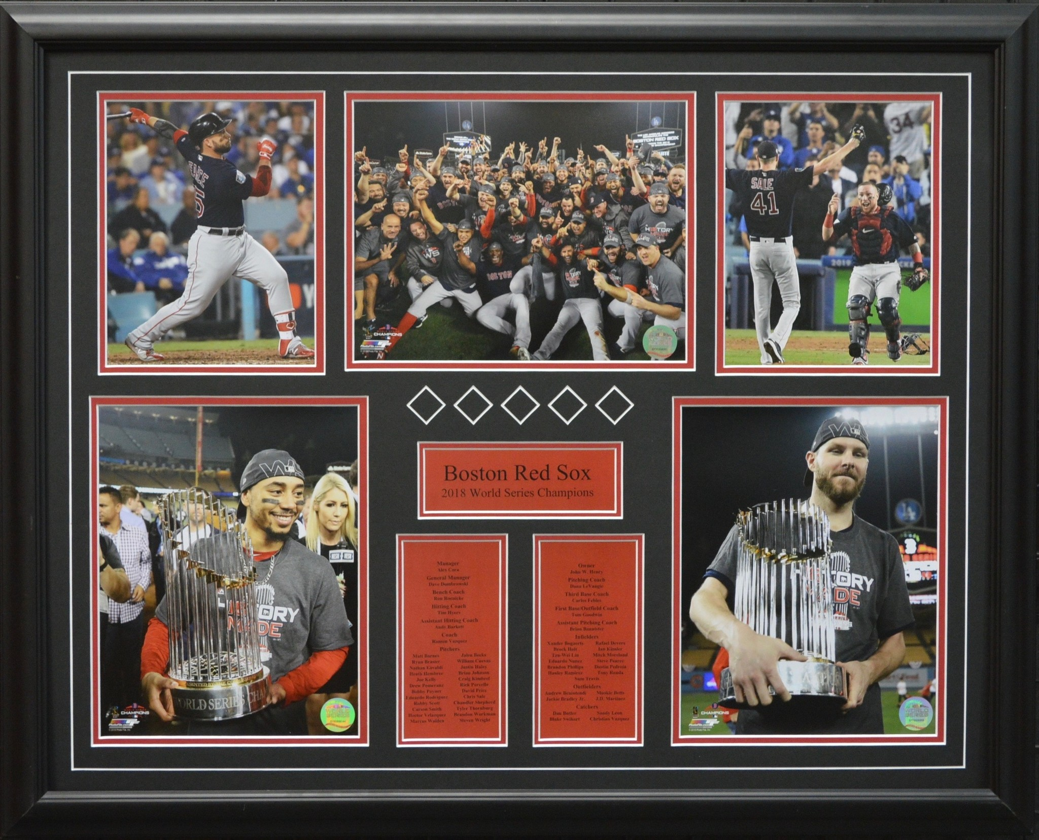BOSTON RED SOX 2018 WORLD SERIES 22X28 FRAME