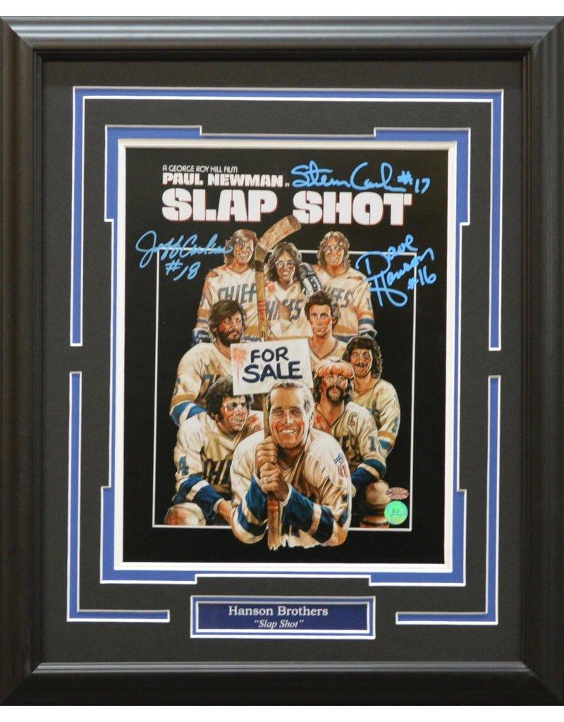 Hanson Brothers Slap Shot Autograph 16x20 Frame Ajw Sportscards