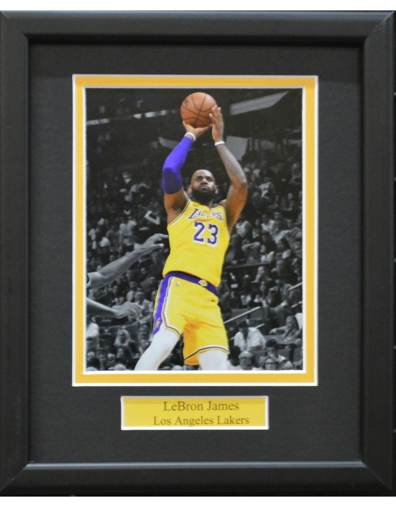 LEBRON JAMES 8X10 FRAME - LOS ANGELES LAKERS